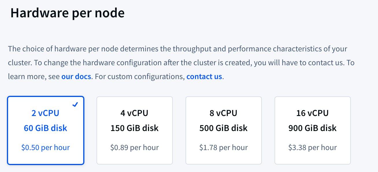 cc hardware per node options