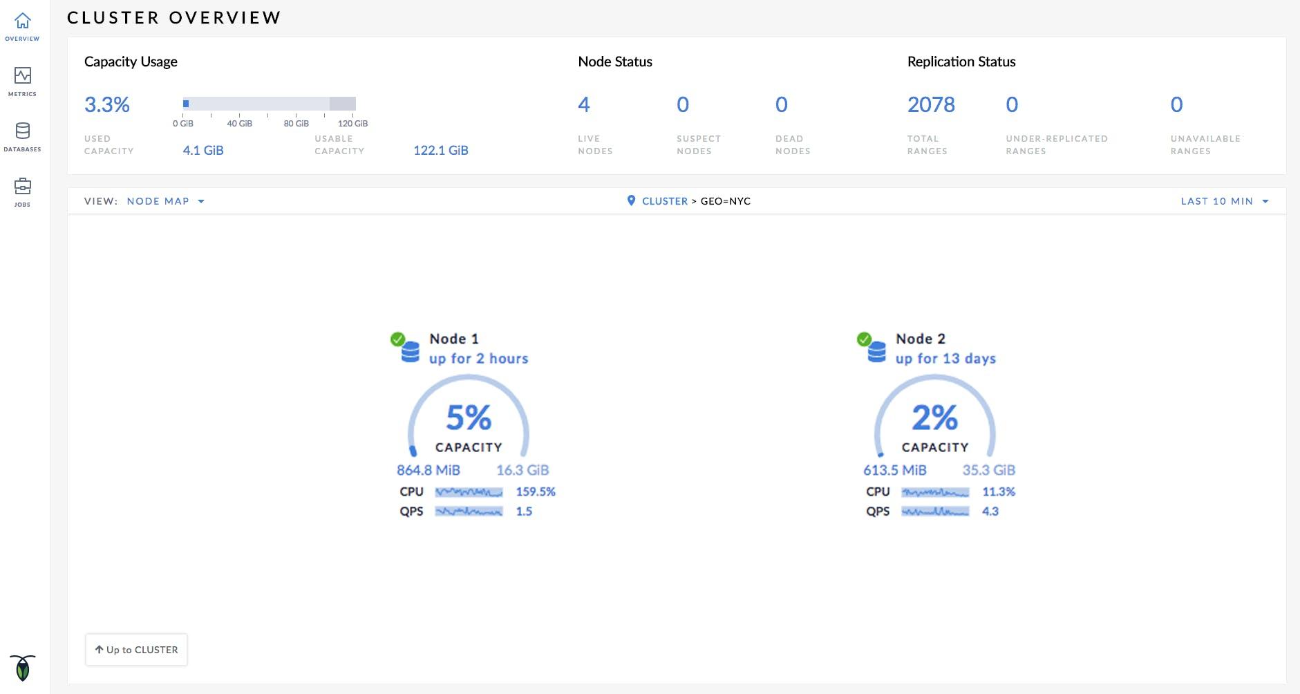 Cluster Visualization in the CockroachDB Web UI